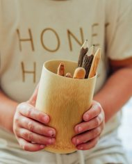 Bamboo natural cup