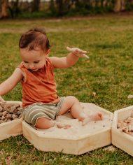 Wooden sensory play experience