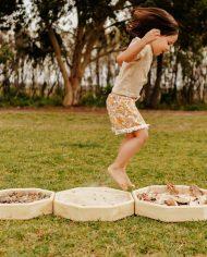 Wooden sensory walk experience