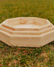 Wooden sensory walk shapes