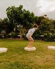 wooden jump wooden sensory pads
