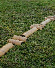 large bamboo balance walk